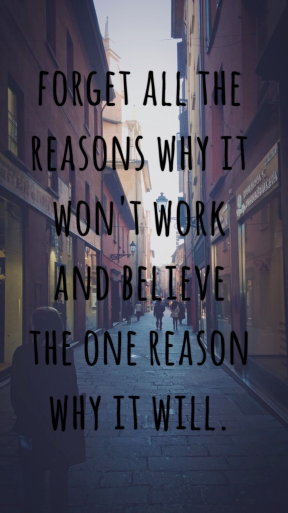 Inspiration Tuesday - One Reason