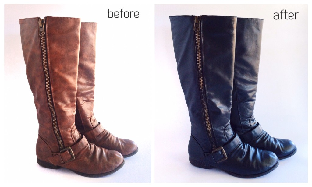 DIY Spray Paint Boots