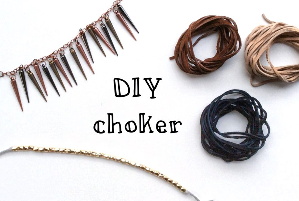 DIY choker necklace | Vivian and Violet