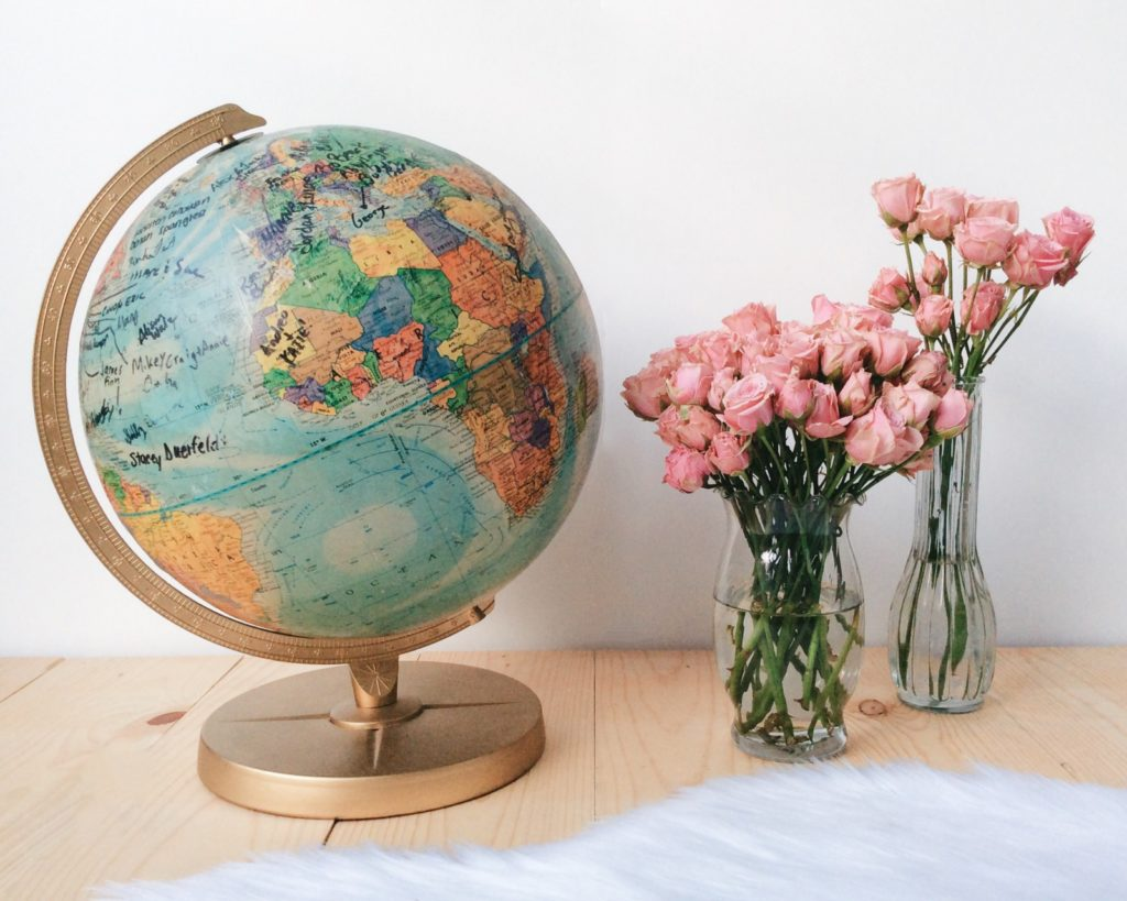DIY Globe Guest Book